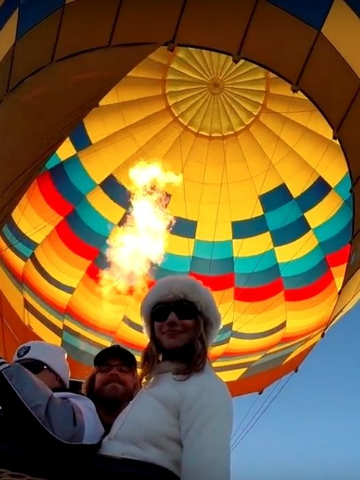 Полёт на воздушном шаре в Памуккале
