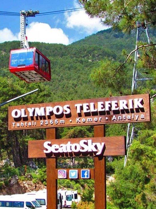 Канатная дорога Олимпос в Анталии