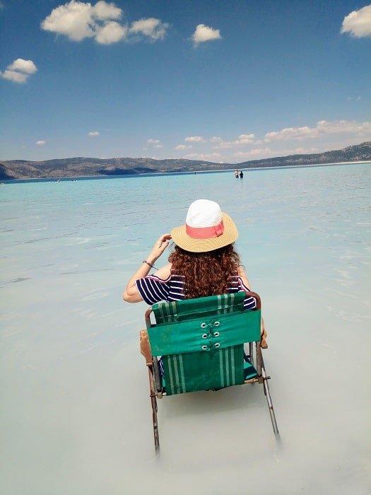 Озеро Салда и Памуккале из Сиде