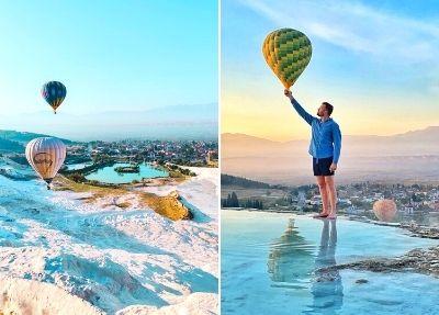 Полет на воздушном шаре в Памуккале из Аланьи