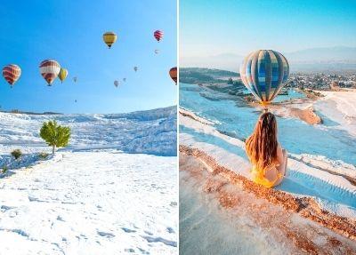 Полет на воздушном шаре в Памуккале из Стамбула