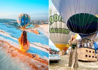 Полёт на воздушном шаре в Памуккале из Белека