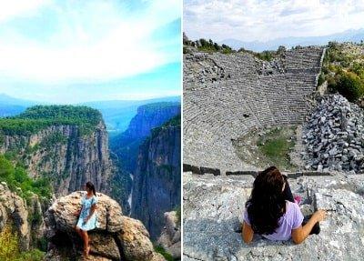 Тазы каньон и Сельге из Сиде